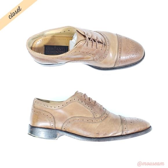Mercanti Fiorentini  Mens Tan Brogue Oxford Shoes.  M 5b3067909539f705ac0c89ed b5913c0d709